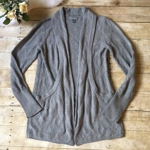 Market & Spruce Gray Sweater Cardigan Size Medium